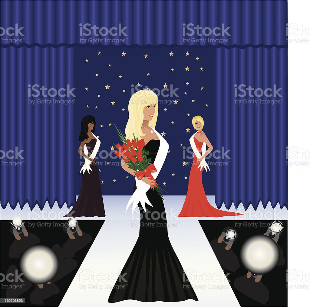 Beauty Pagent vector art illustration