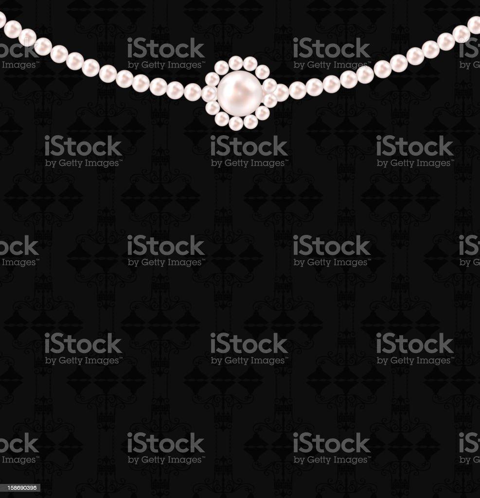 Beauty pearl background vector illustration vector art illustration