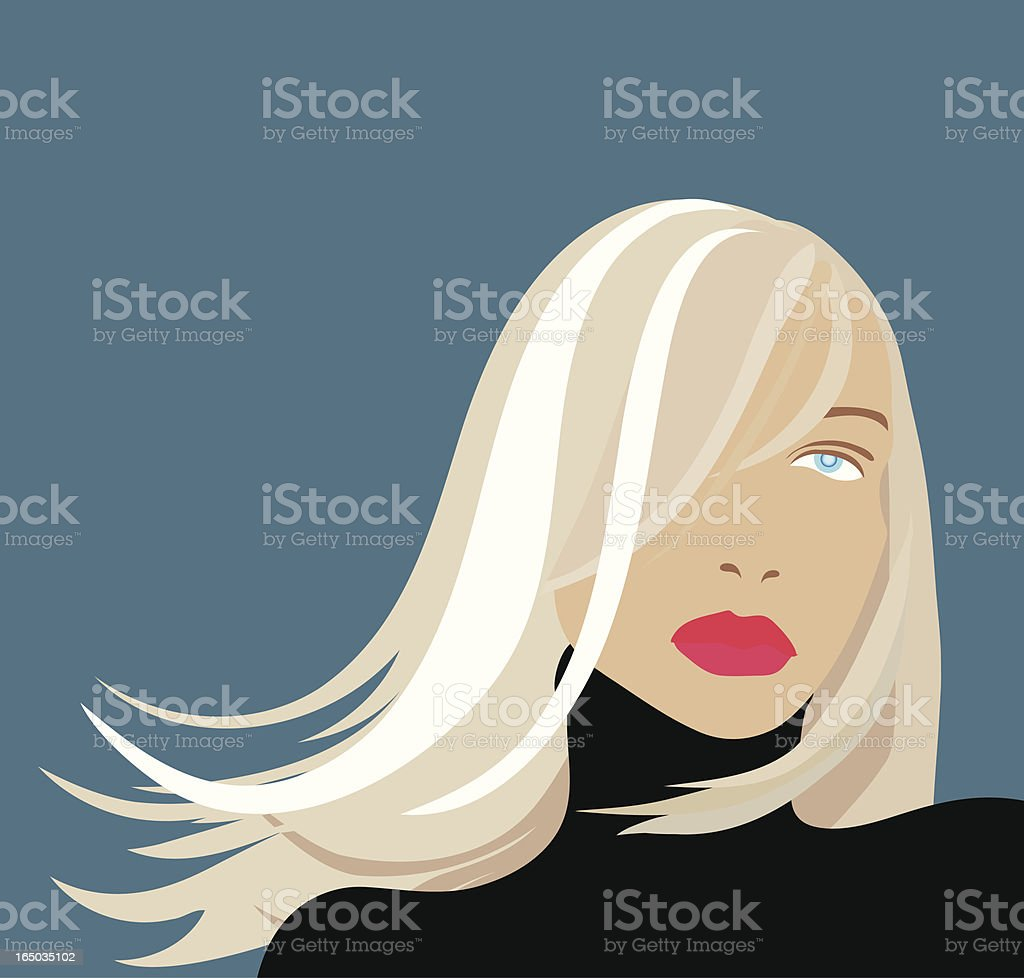 beauty portrait vector art illustration