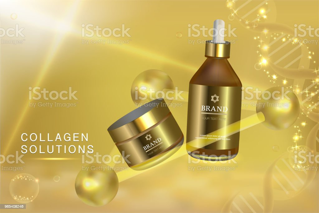 Beauty product, cosmetic containers with gold advertising background ready to use, luxury skin care ad beauty product cosmetic containers with gold advertising background ready to use luxury skin care ad - stockowe grafiki wektorowe i więcej obrazów aromaterapia royalty-free