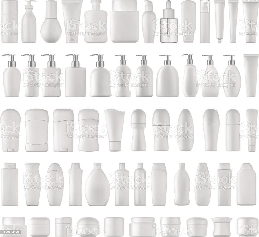 Conjunto de productos de belleza. - ilustración de arte vectorial