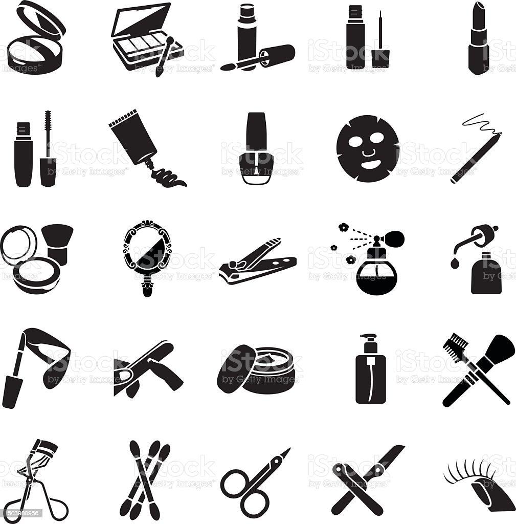 Vetor ícones de produtos de beleza - ilustração de arte em vetor