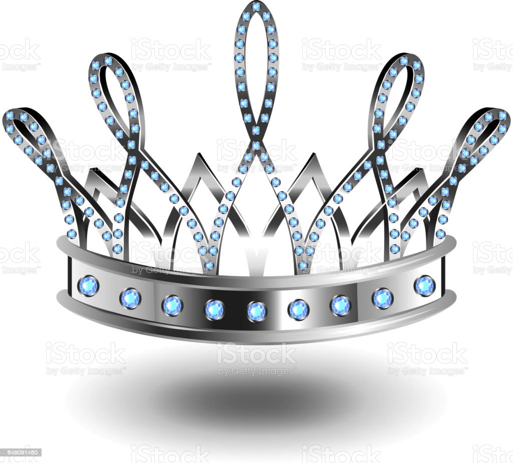 beauty queen silver crown isolated on white vector stock vector art rh istockphoto com tiara vector png tiara vector image