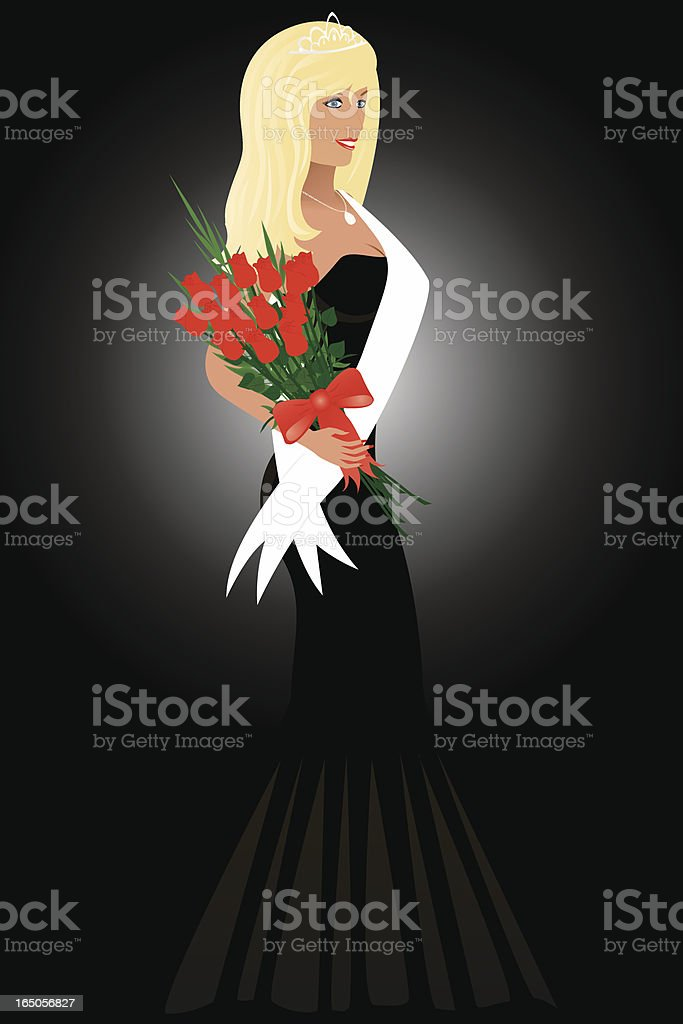 Beauty Queen royalty-free stock vector art