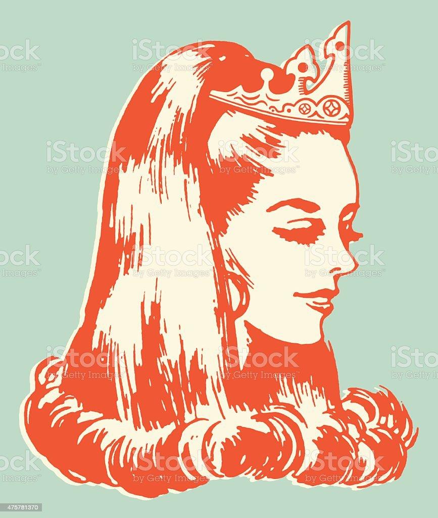 Beauty Queen vector art illustration