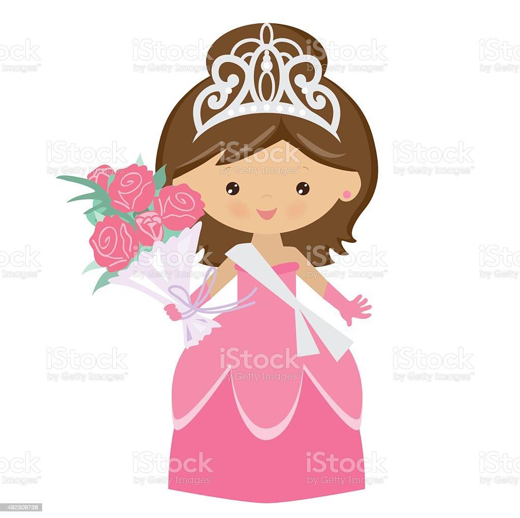 Beauty queen vector illustration vector art illustration