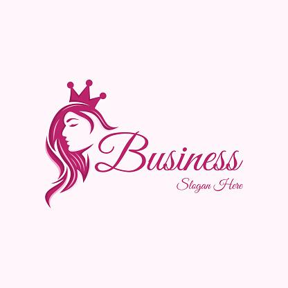 Beauty Queen Vector Logo Design