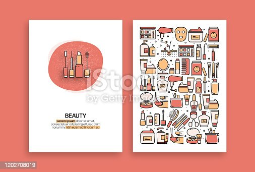 Beauty Related Design. Modern Vector Templates for Brochure, Cover, Flyer and Annual Report.