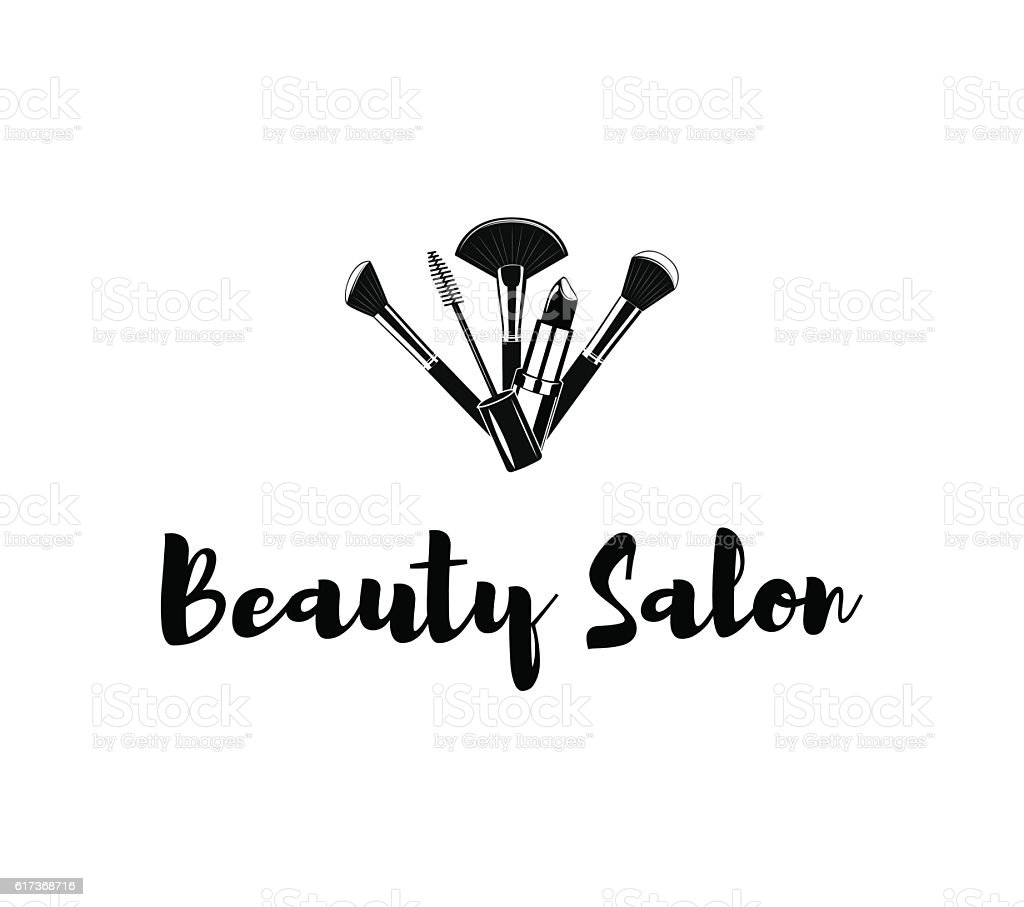 Makeup Brushes Logo Vector Illustration Isolated Royalty Free Beauty