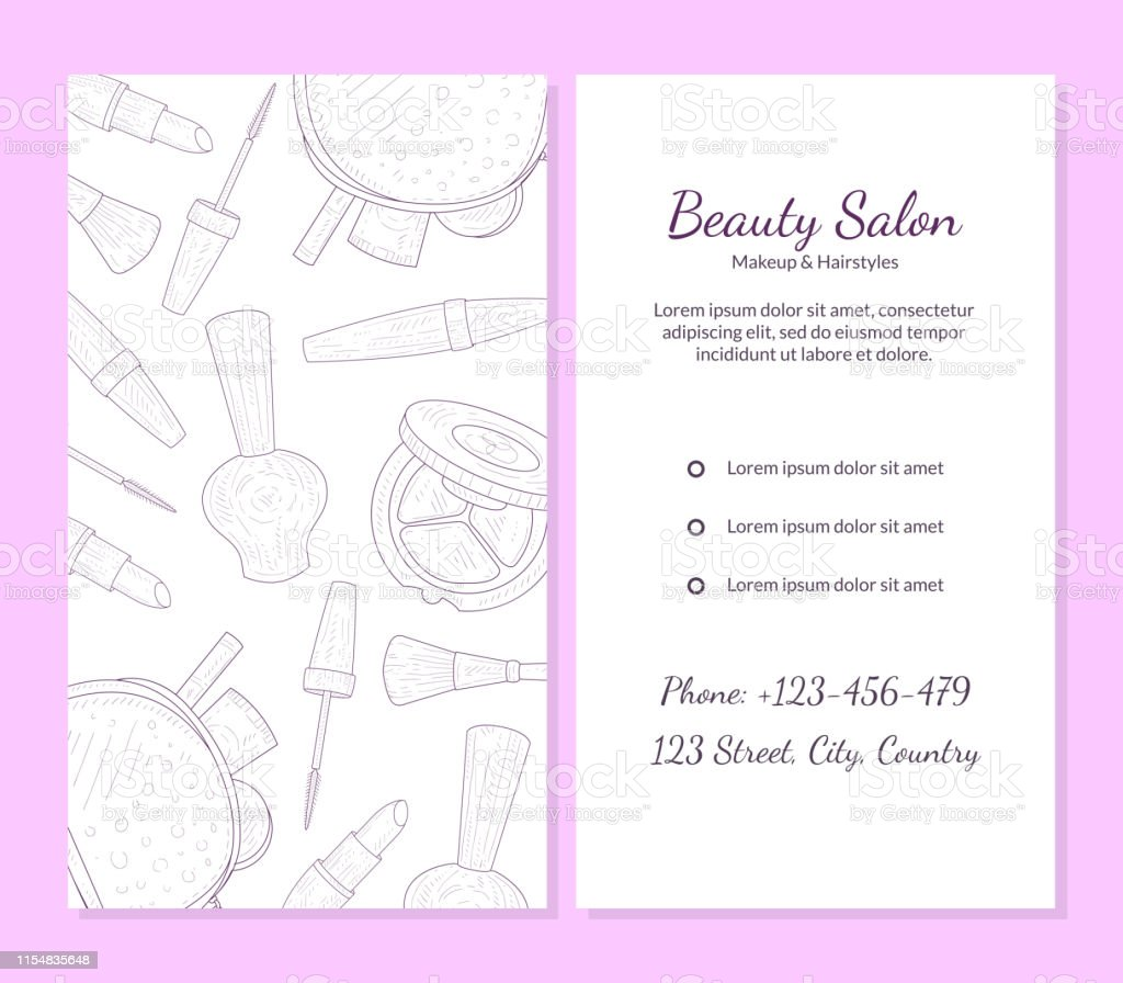 Beauty Salon Banner Template With Place For Your Text Cosmetics And Beauty Background With Make Up Artist Objects Vector Illustration Stock Illustration Download Image Now Istock