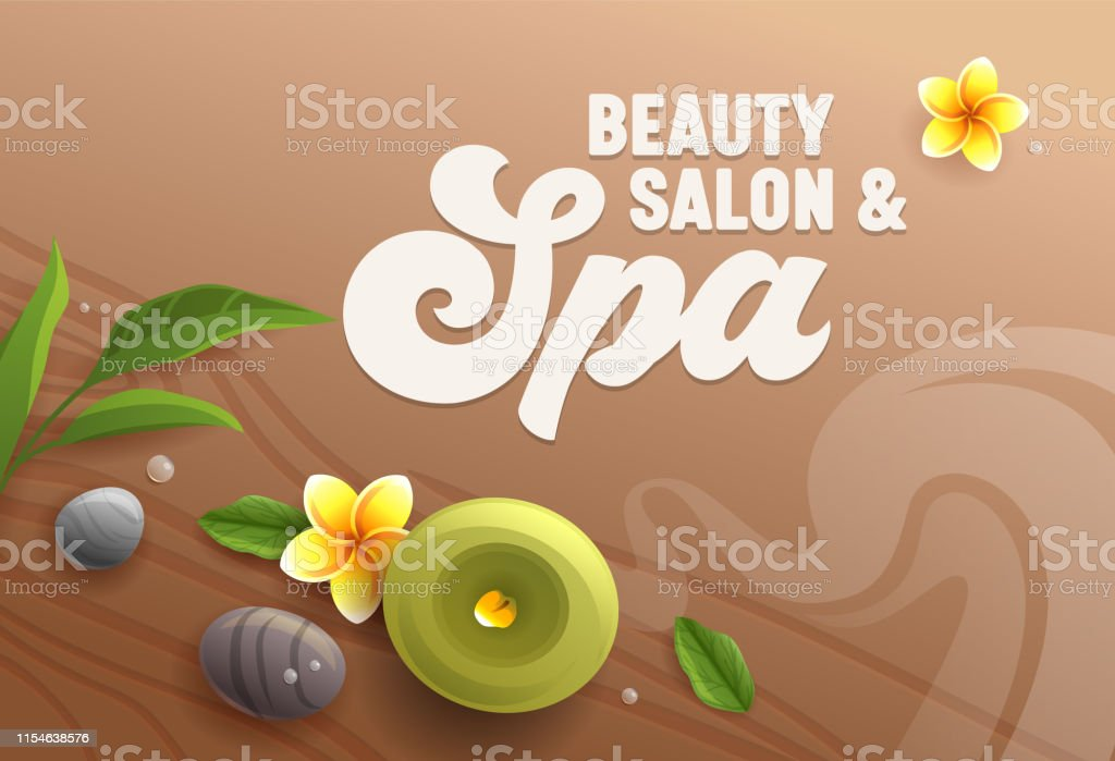 Beauty Salon Banner Top View Of Spa Attributes As Aroma Candle Stock Images Page Everypixel