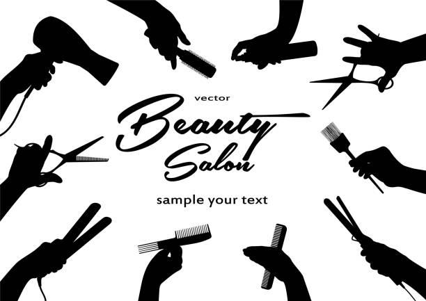 美容室。 理髪師と理髪 - 美容室点のイラスト素材/クリップアート素材/マンガ素材/アイコン素材