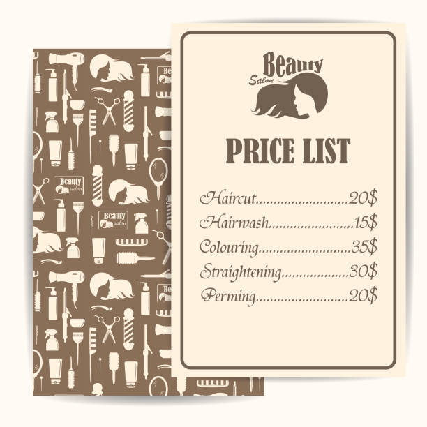 Royalty free salon price list template clip art vector images salon price list template clip art vector images illustrations maxwellsz