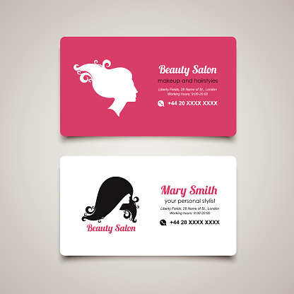 Beauty Salon Business Card Design Template With Beautiful ...