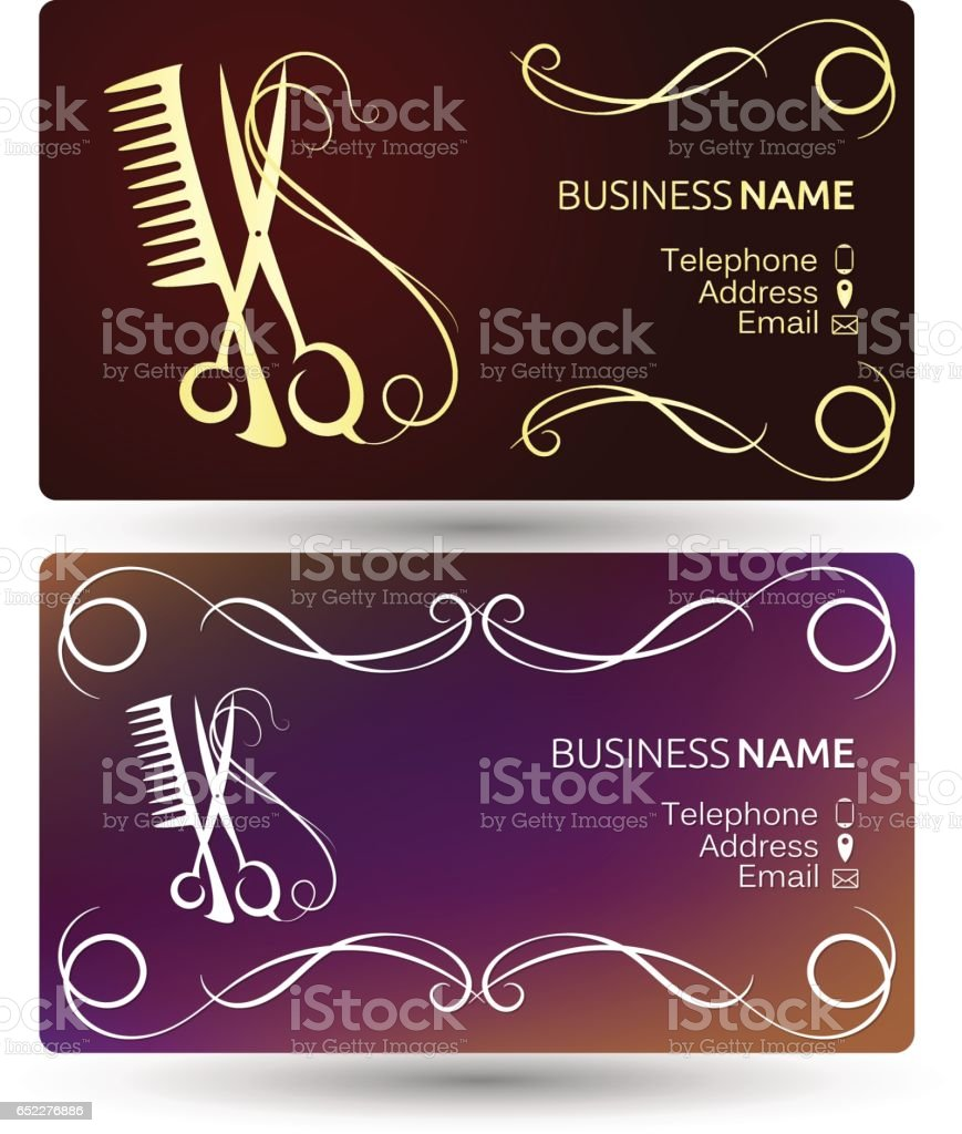 Beauty Salon Business Card Template Stock Vector Art & More Images ...