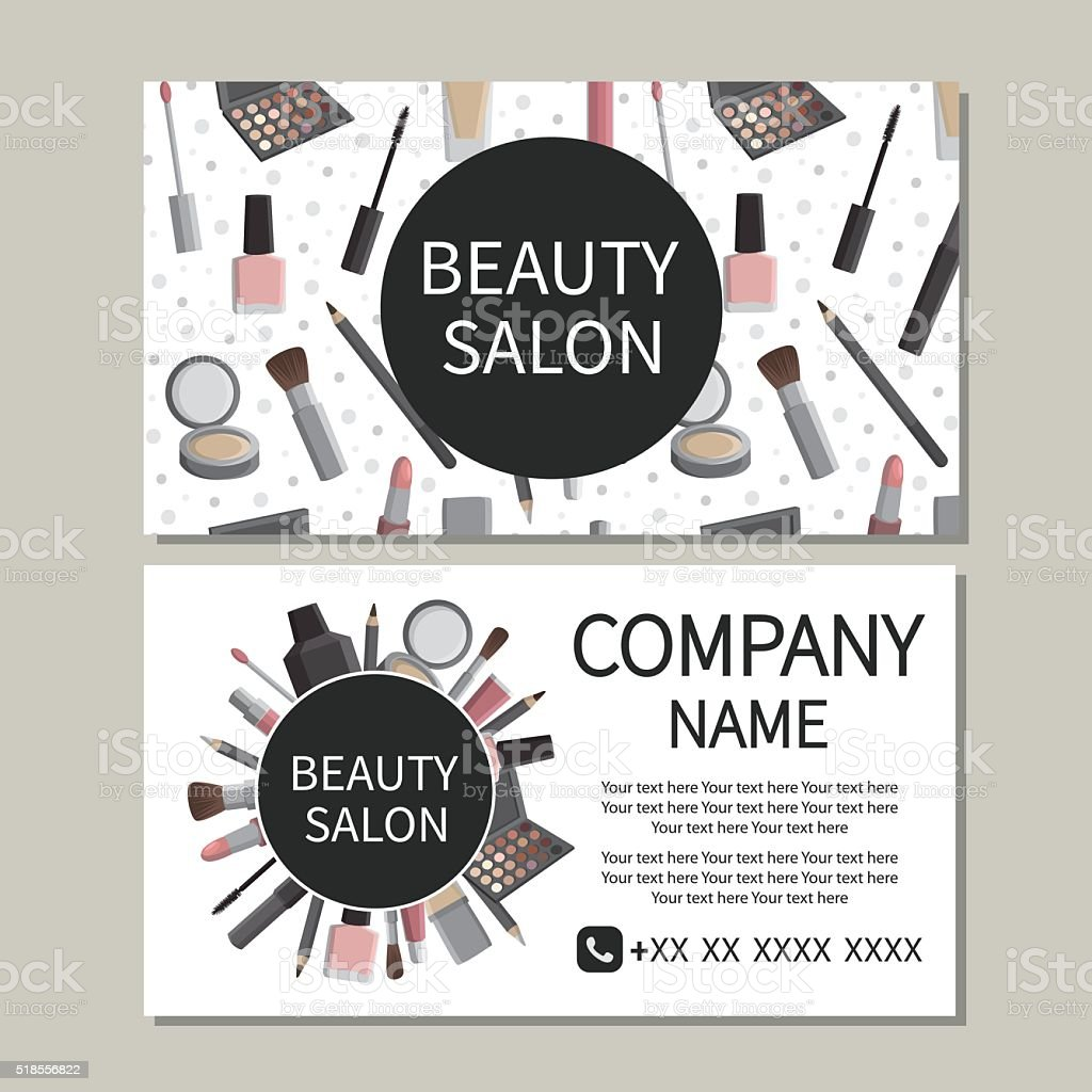 Beauty Salon Business Card Stock Vector Art & More Images of Adult ...
