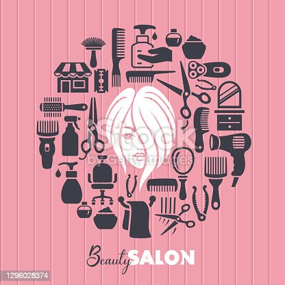Beauty salon concept. Barbershop and Hairdressing.