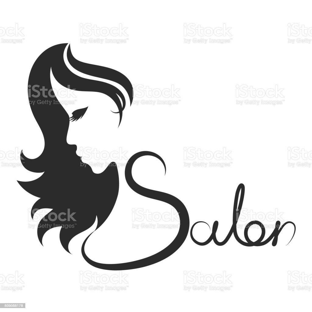 Beauty salon symbol vector art illustration