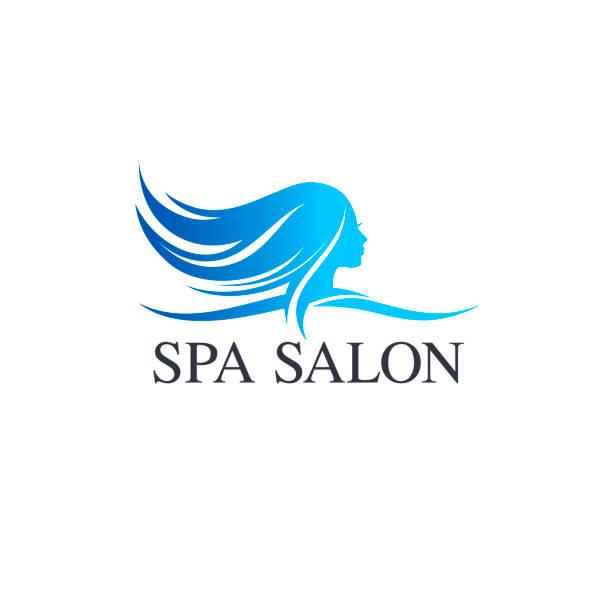 Modèle de conception de vecteur de salon de beauté. Icône de salon de cheveux - Illustration vectorielle