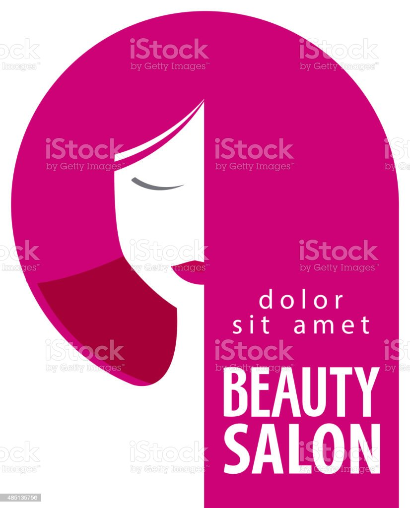 Beauty Salon Vector Logo Design Template Girl Woman Or Hair Stock Illustration Download Image Now Istock