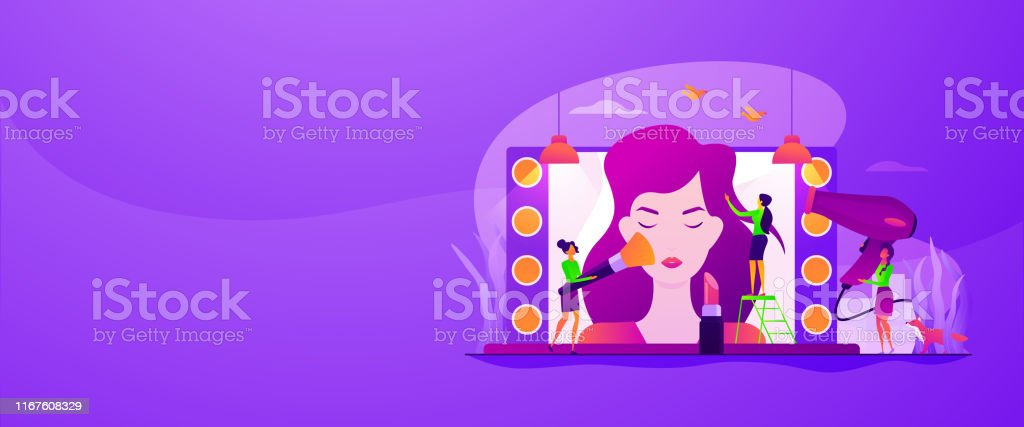 Beauty Salon Web Banner Concept Stock Illustration Download Image Now Istock