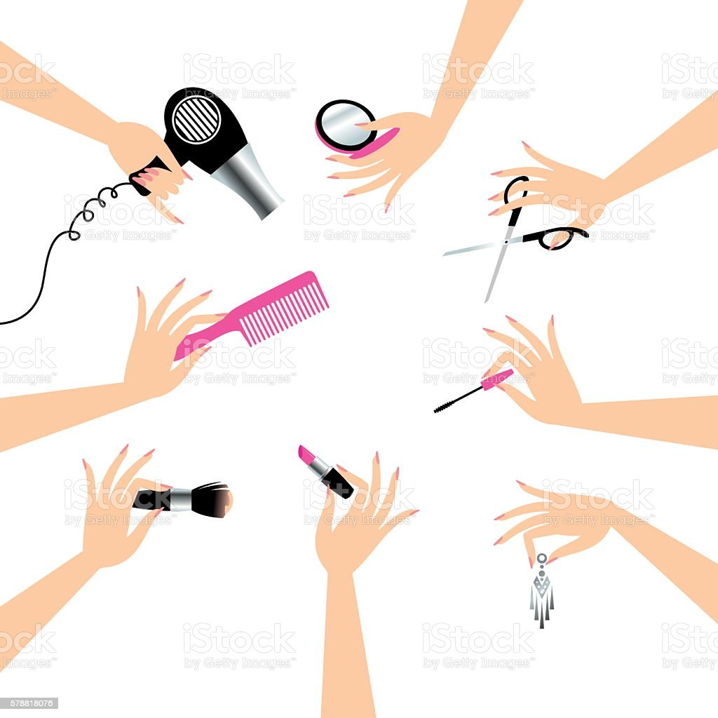 Beauty service vector art illustration
