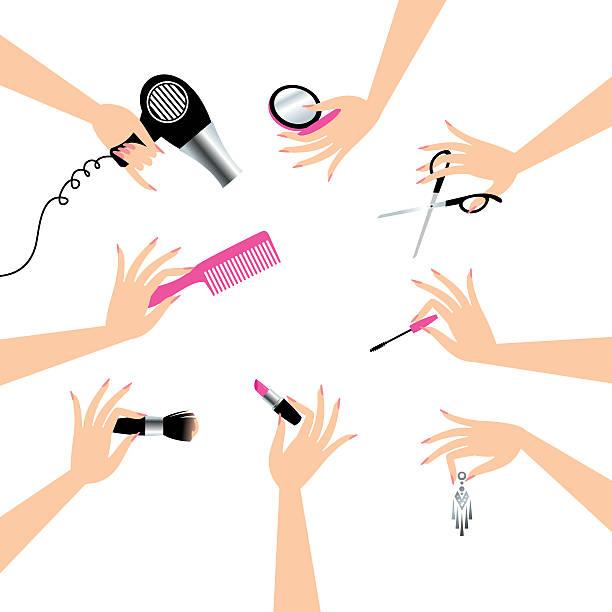 beauty service - 美容室点のイラスト素材/クリップアート素材/マンガ素材/アイコン素材