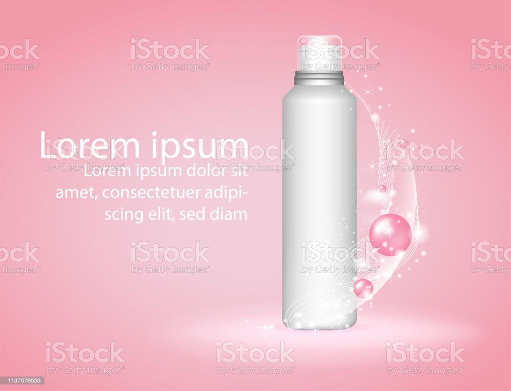 Beauty Skin Care Cosmetics Antiaging Elements For The Art Works Flyers Orinvitation And Banners Vector Pink Background Stock Illustration Download Image Now Istock