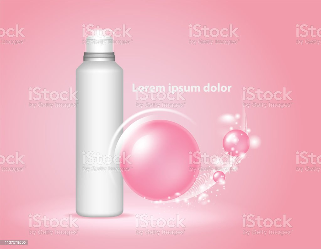 Beauty Skin Care Cosmetics Antiaging Elements Vector For The Art Works Flyers Orinvitation And Banners Pink Background Stock Illustration Download Image Now Istock