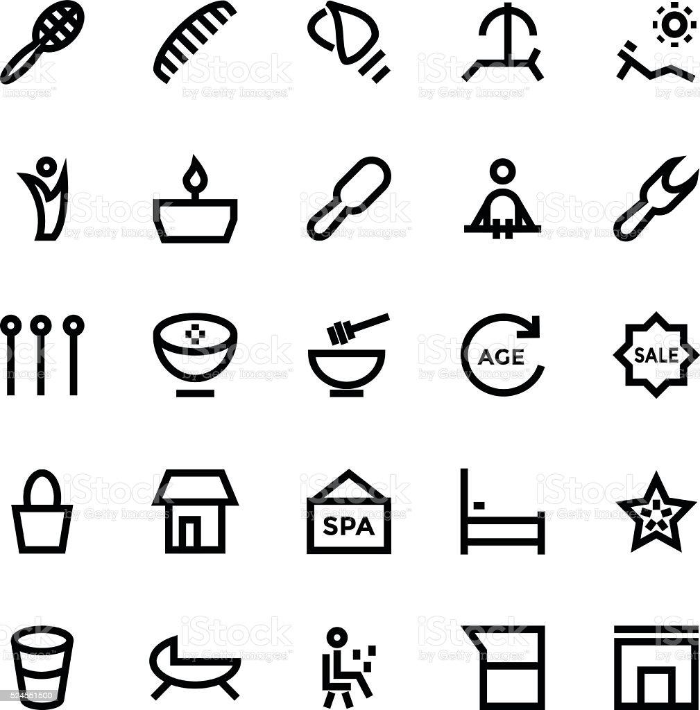& Vector SPA Iconos de belleza 3 - ilustración de arte vectorial