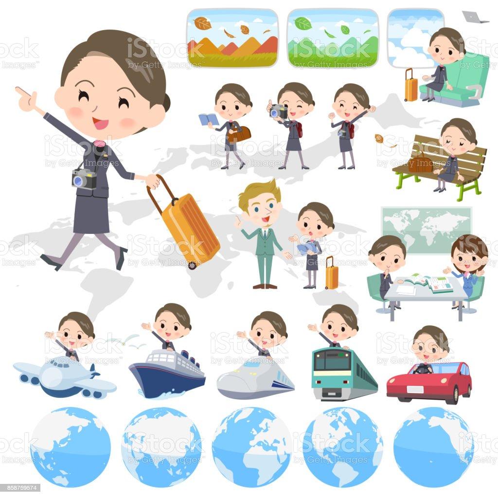 美容スタッフ women_travel ベクターアートイラスト