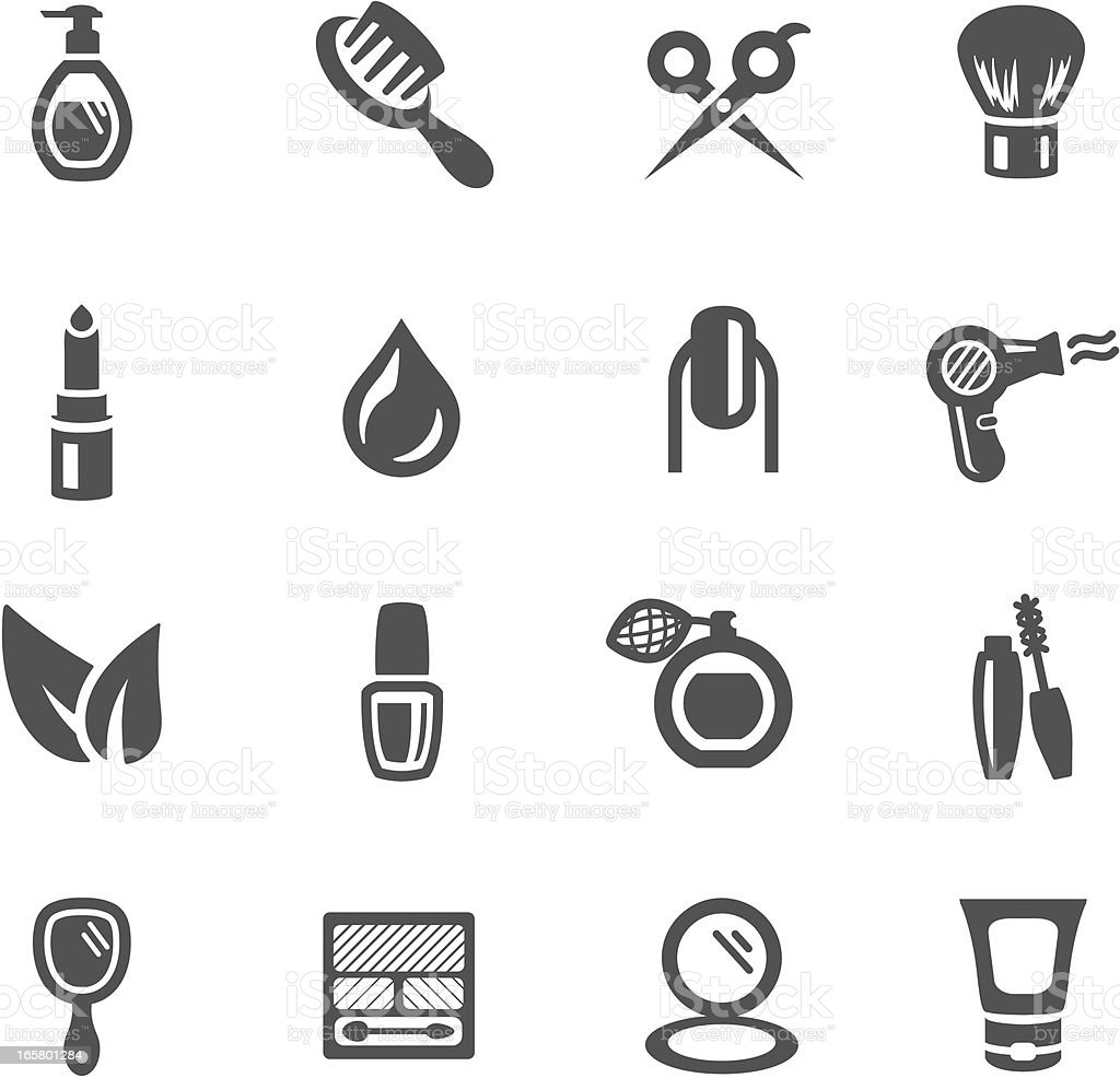 Beauty Symbols vector art illustration