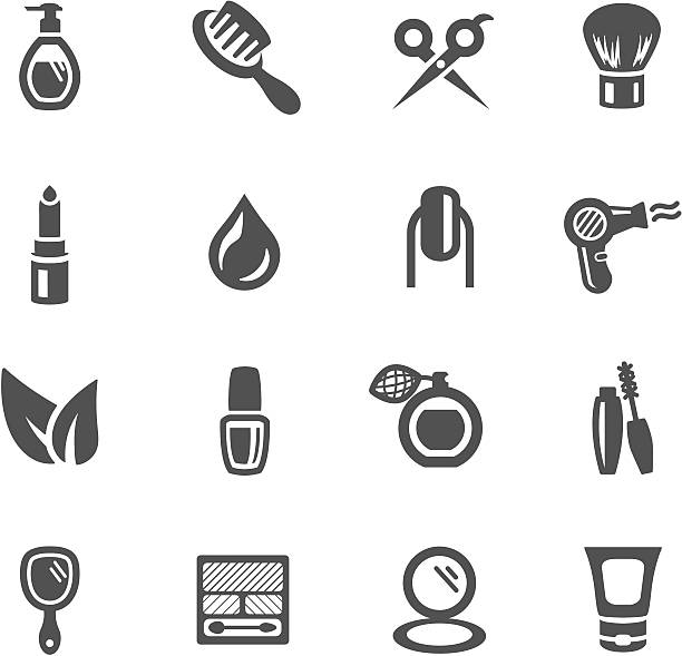 Beauty Symbols vector art illustration