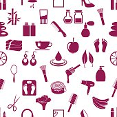 beauty theme big set of various icons seamless pattern eps10