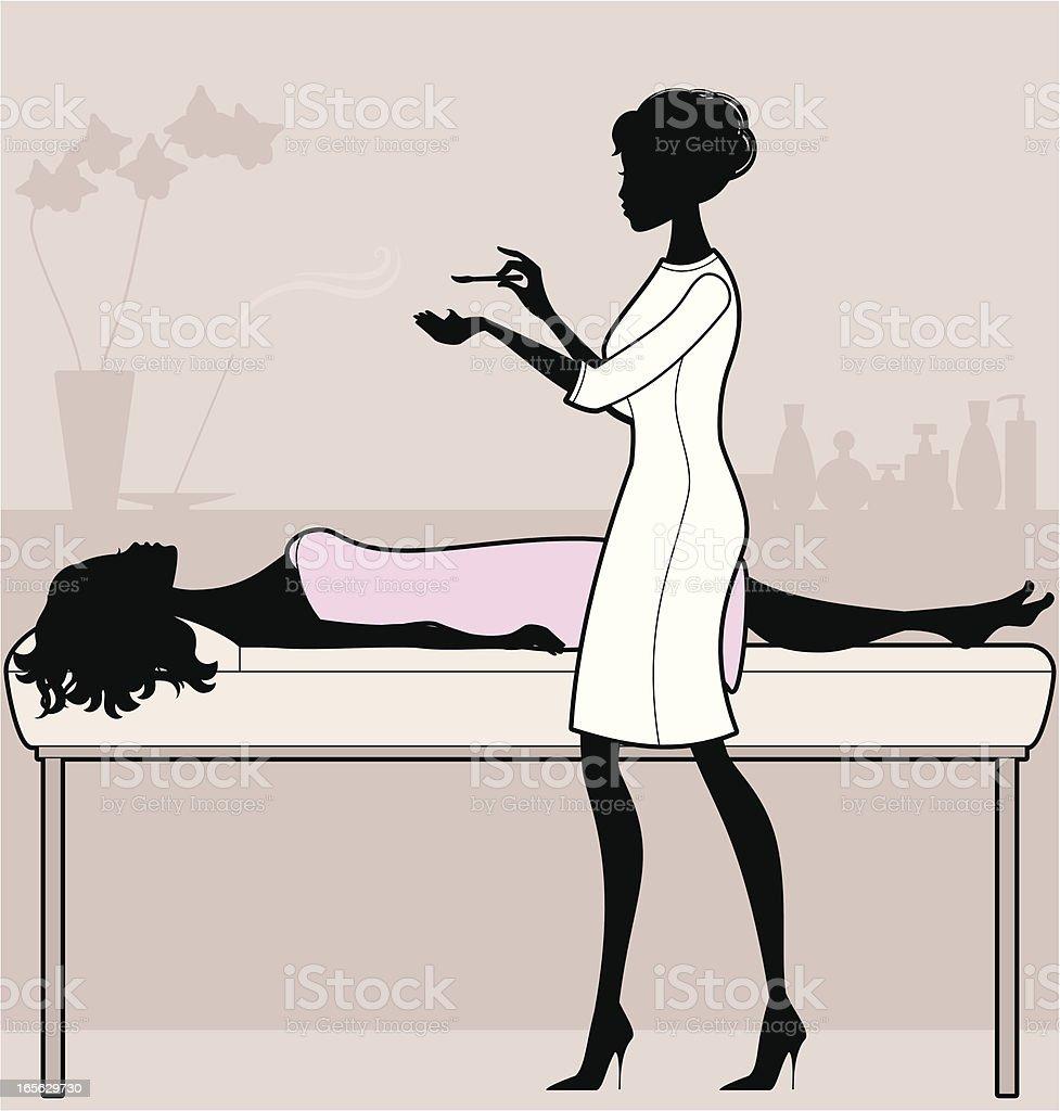 Beauty Therapist vector art illustration