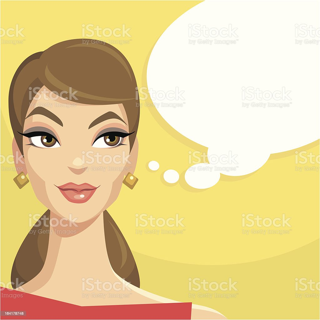 Beauty Thinking royalty-free beauty thinking stock vector art & more images of 1950-1959