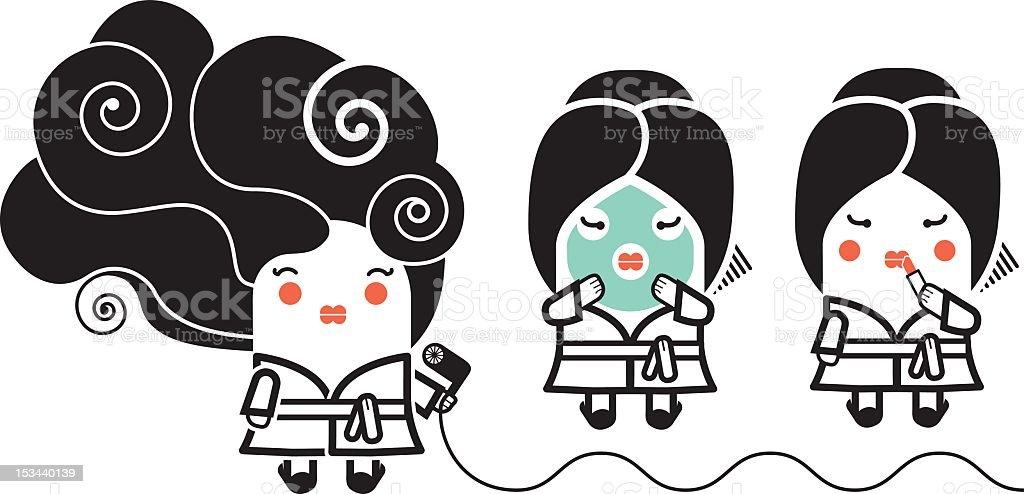 Beauty treatments vector art illustration