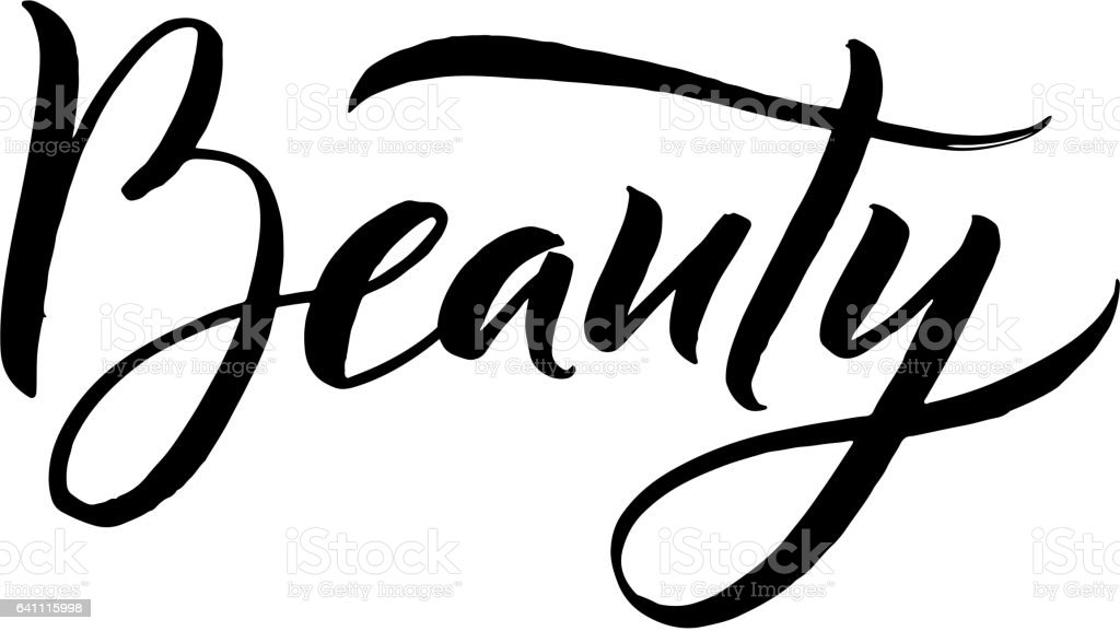 Beauty Typography Square Poster Vector Lettering Calligraphy Phrase