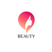 Beauty vector design template. Beauty point icon.
