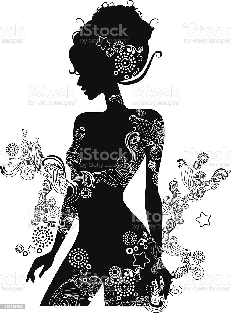 Beauty. vector art illustration