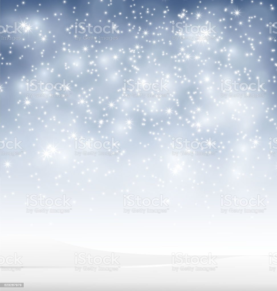 Beauty Winter background with snow for you design vector art illustration