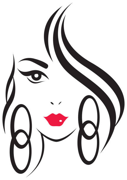Schönheit Frau – Vektorgrafik