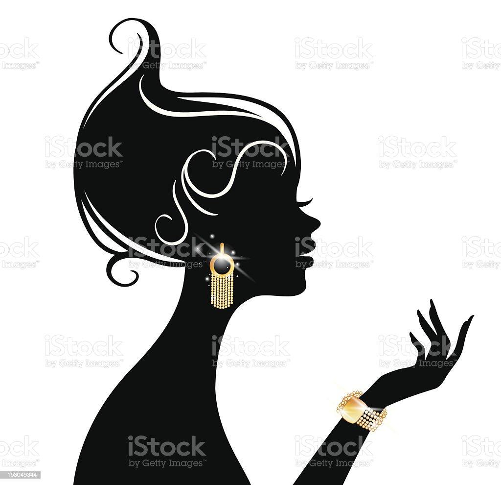 Beauty woman royalty-free stock vector art