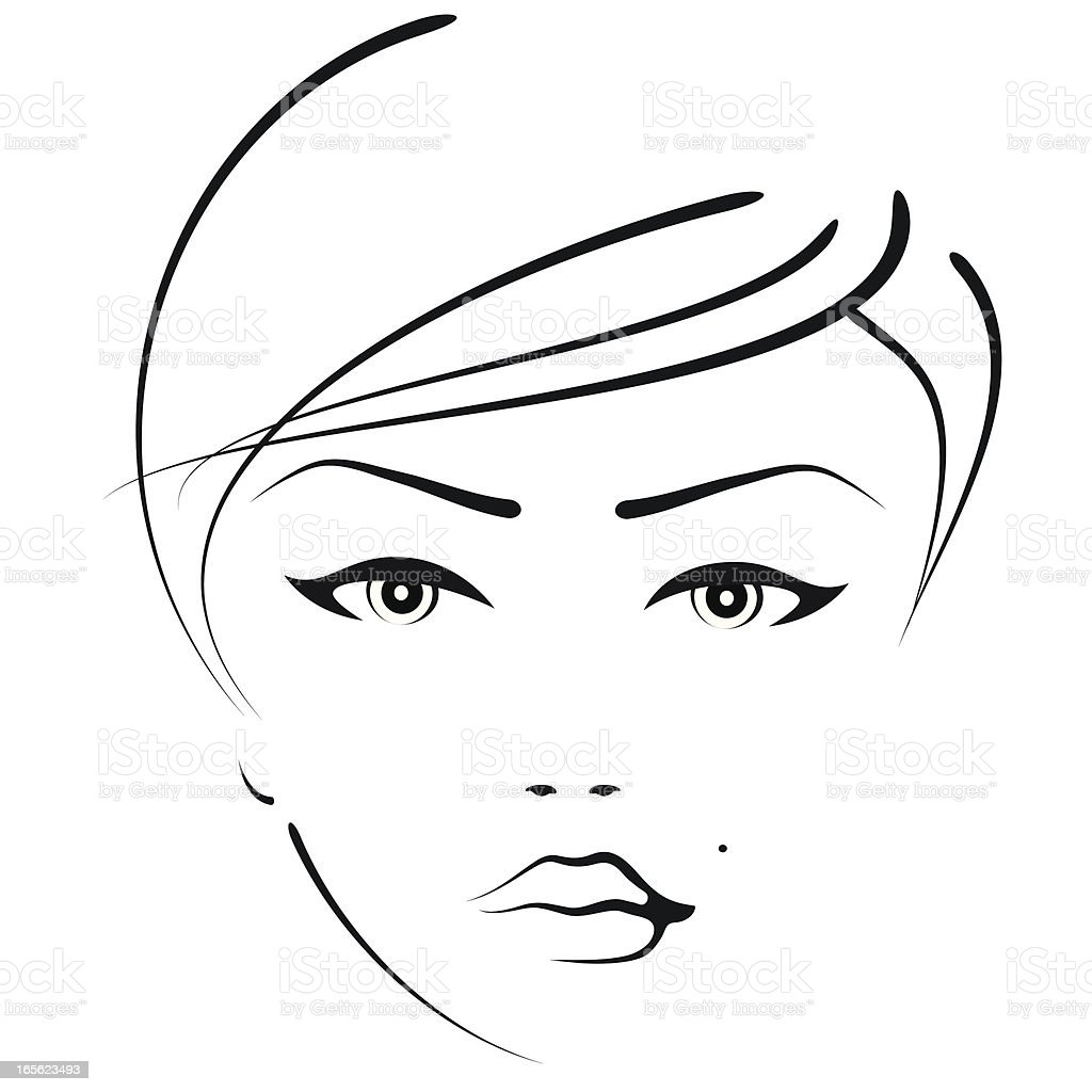 beauty woman vector art illustration