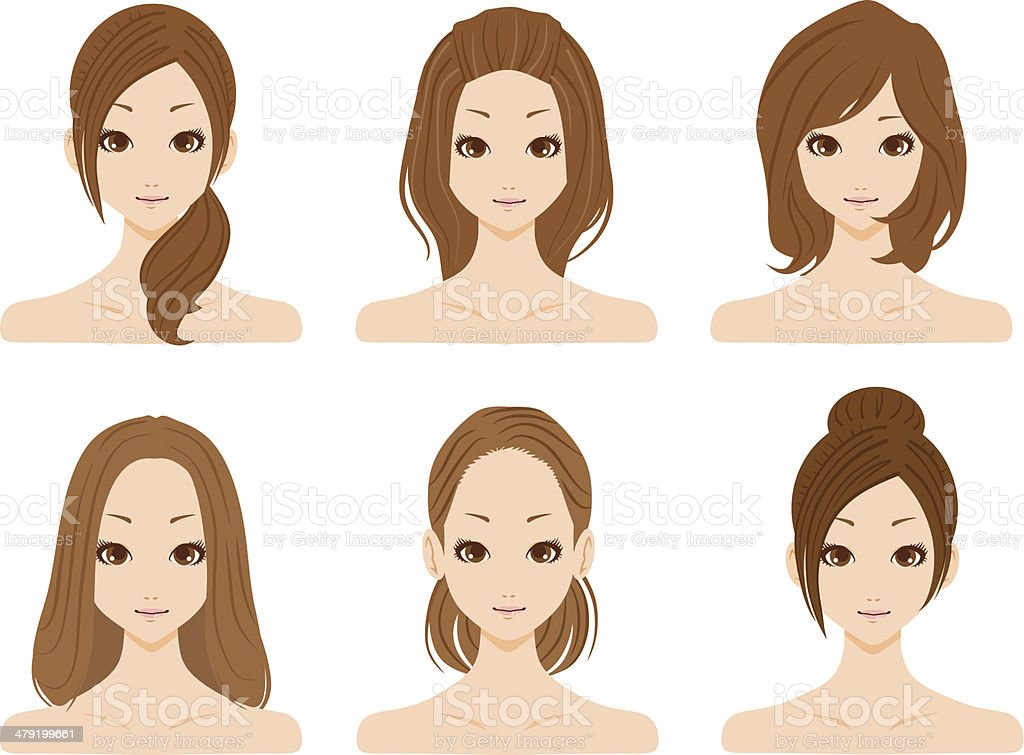 Beauty women's groups vector art illustration