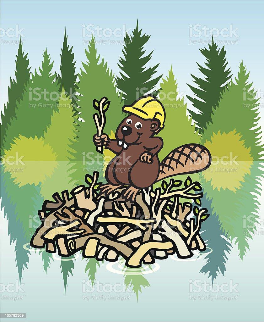 Beaver Dam vector art illustration