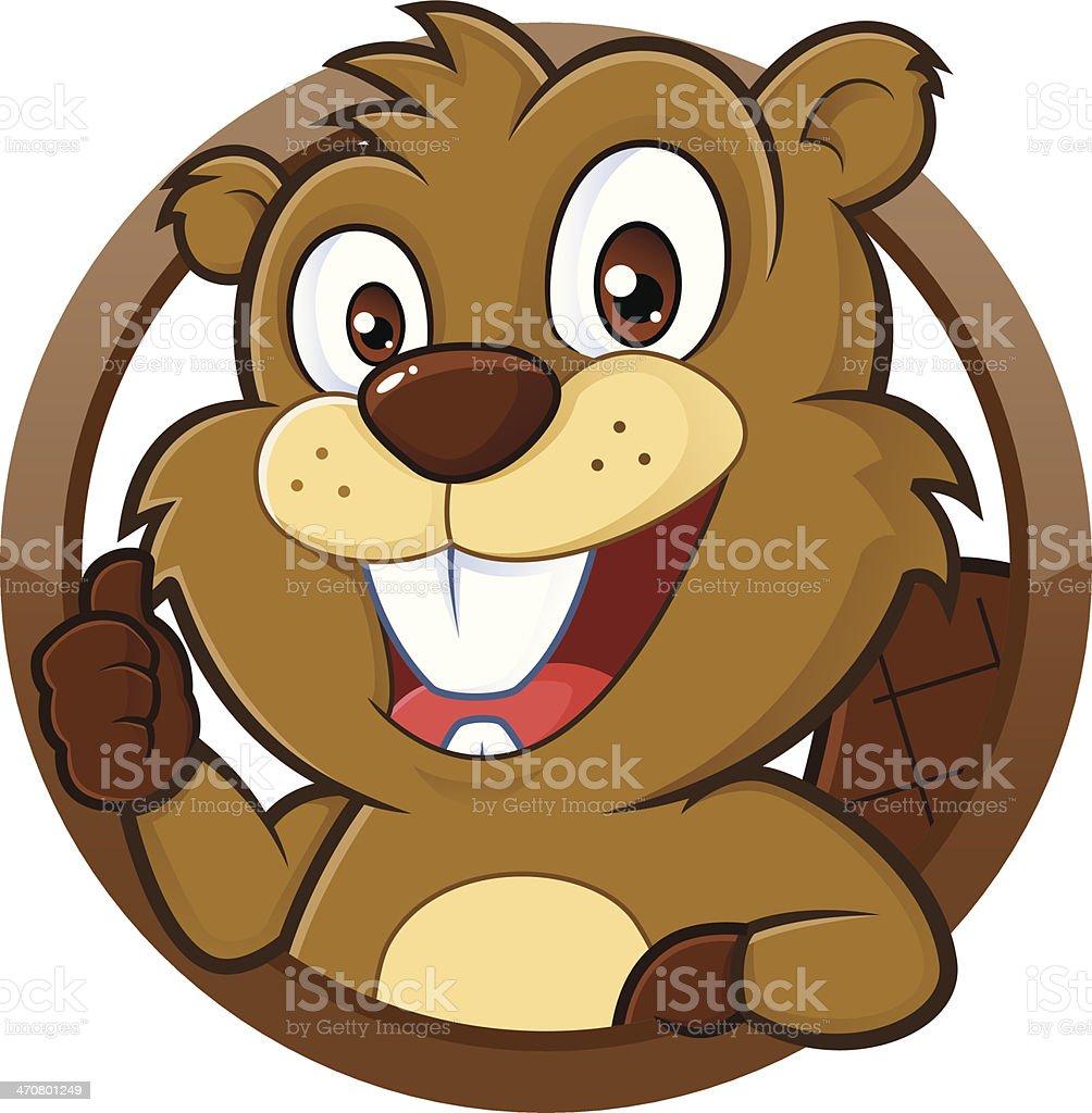 Beaver donne Pouce levé - Illustration vectorielle