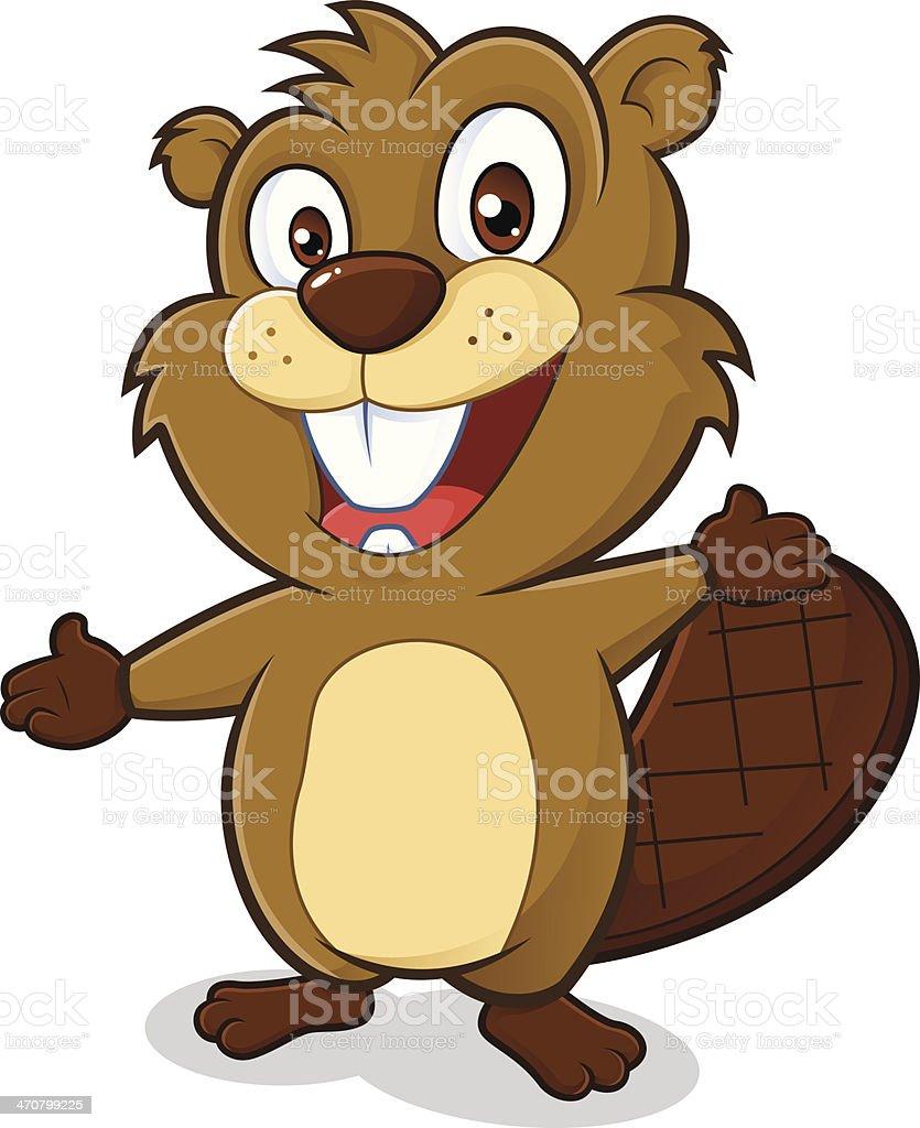 Beaver à arrivée - Illustration vectorielle