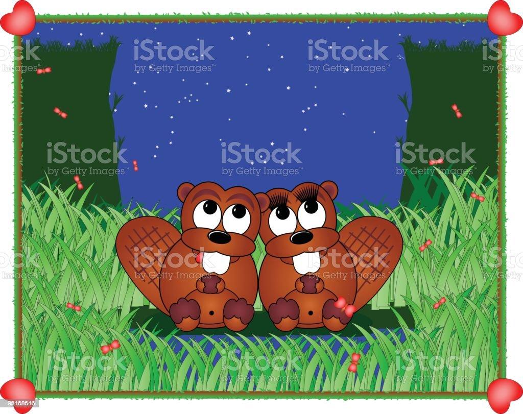 Castoro amore castoro amore - immagini vettoriali stock e altre immagini di a forma di stella royalty-free