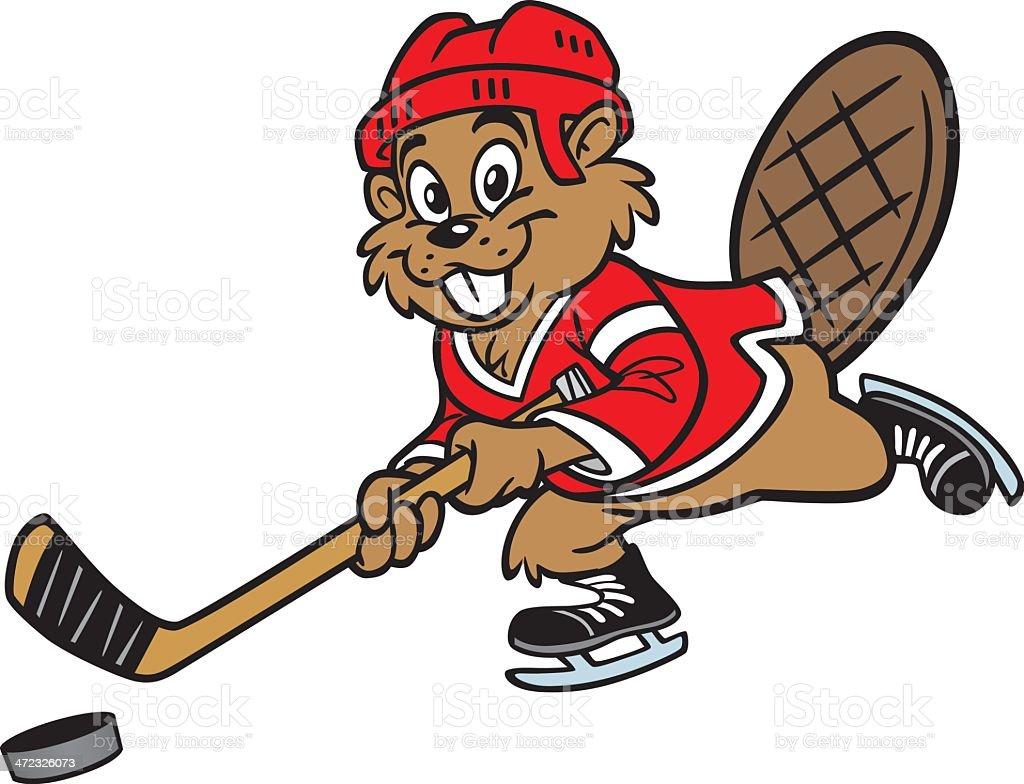 beaver-playing-hockey-vector-id472326073